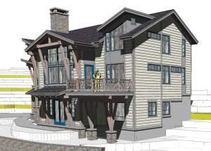 sunday river family ski lodge rendering