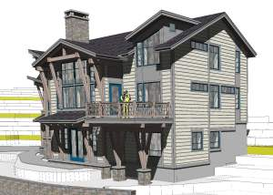 sunday river family ski lodge rendering