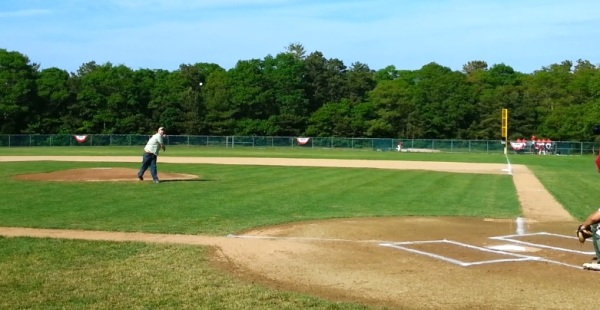 Chris Carbone 1st pitch