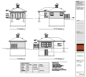 pool house elevations
