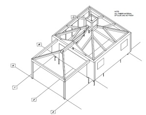 timber frame design for cape cod pool house