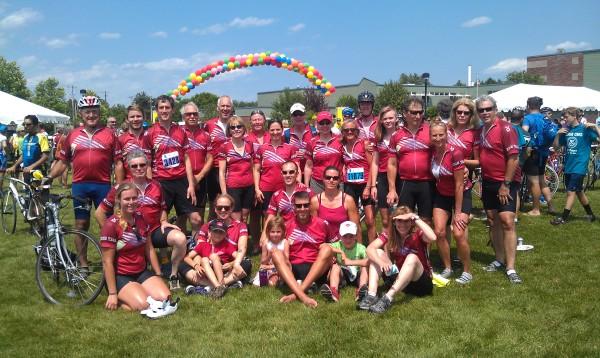bensonwood beam team cyclists