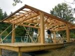 pool house timberframe