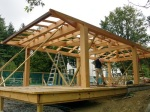 pool house timberframe
