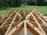 timberframe pool house roof