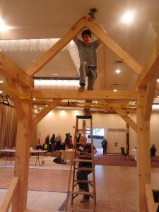 Timber framers guild display