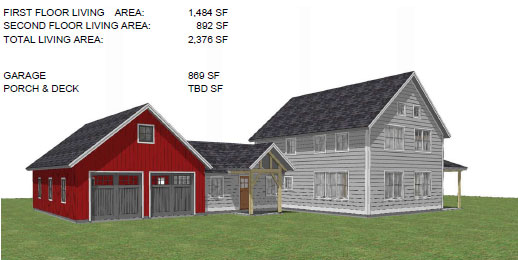 ARTISTS RENDERING CUSTOM TIMBER FRAME